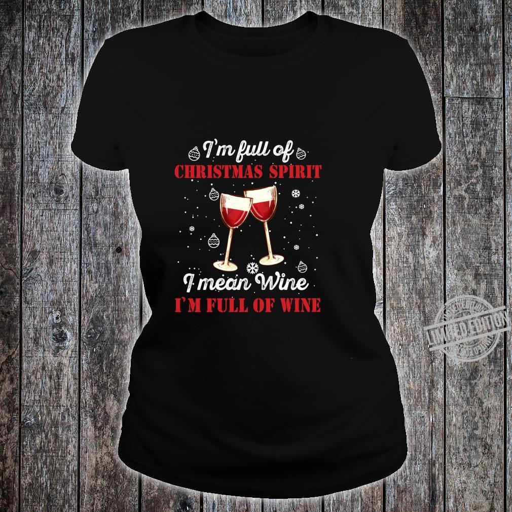 Funny Christmas Wine Outfit Christmas Xmas Christmas Shirt ladies tee