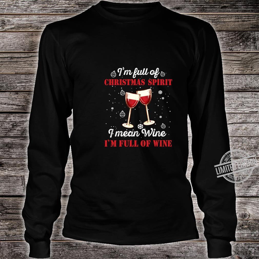 Funny Christmas Wine Outfit Christmas Xmas Christmas Shirt long sleeved