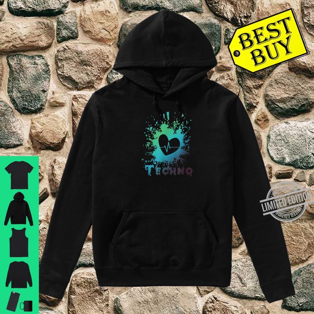 Ich Liebe Techno Herz Frequenz Puls Party Feiern Geschenk Shirt hoodie