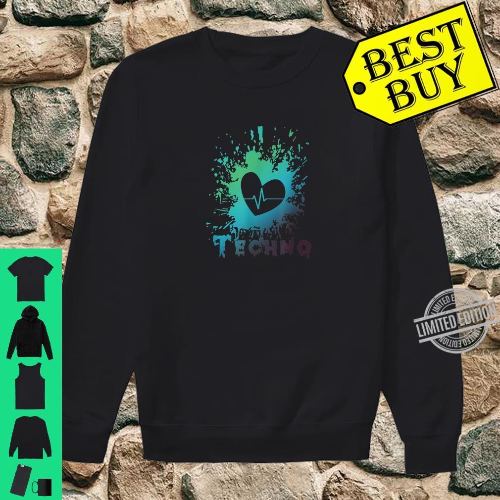 Ich Liebe Techno Herz Frequenz Puls Party Feiern Geschenk Shirt sweater