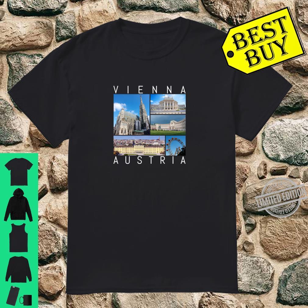 Wien Österreich Souvenir Vienna berühmte Sehenswürdigkeiten Shirt