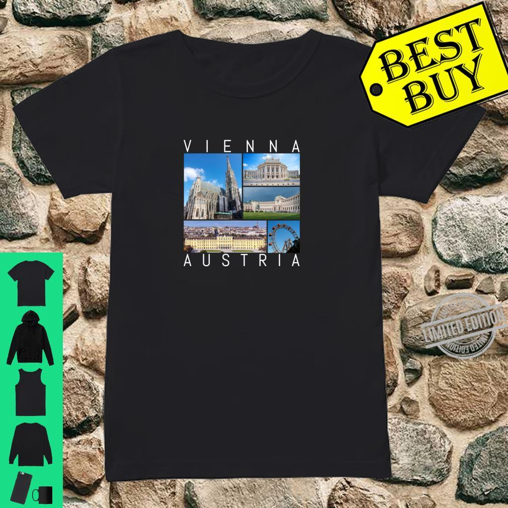 Wien Österreich Souvenir Vienna berühmte Sehenswürdigkeiten Shirt ladies tee
